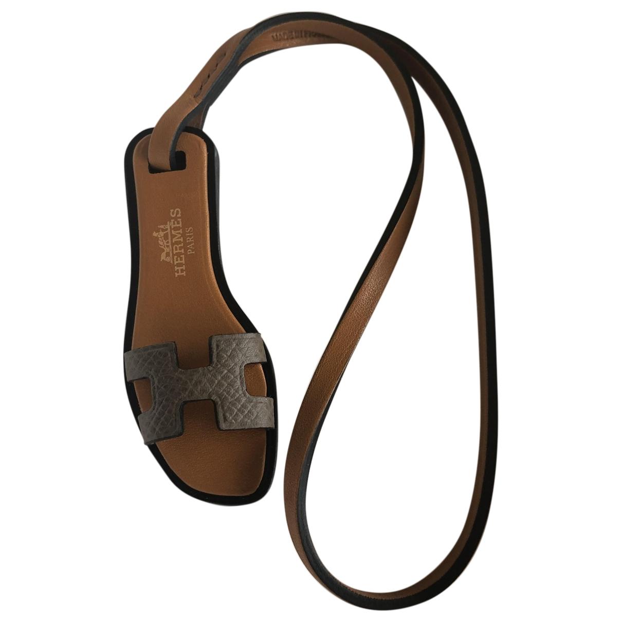 Hermès Oran Nano Charm Camel Leather Bag charms for Women \N