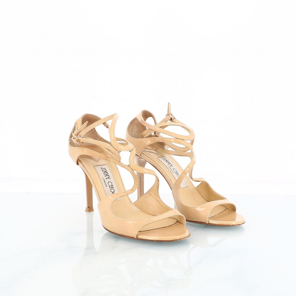 Jimmy Choo \N Khaki Leather Sandals for Women 36 EU