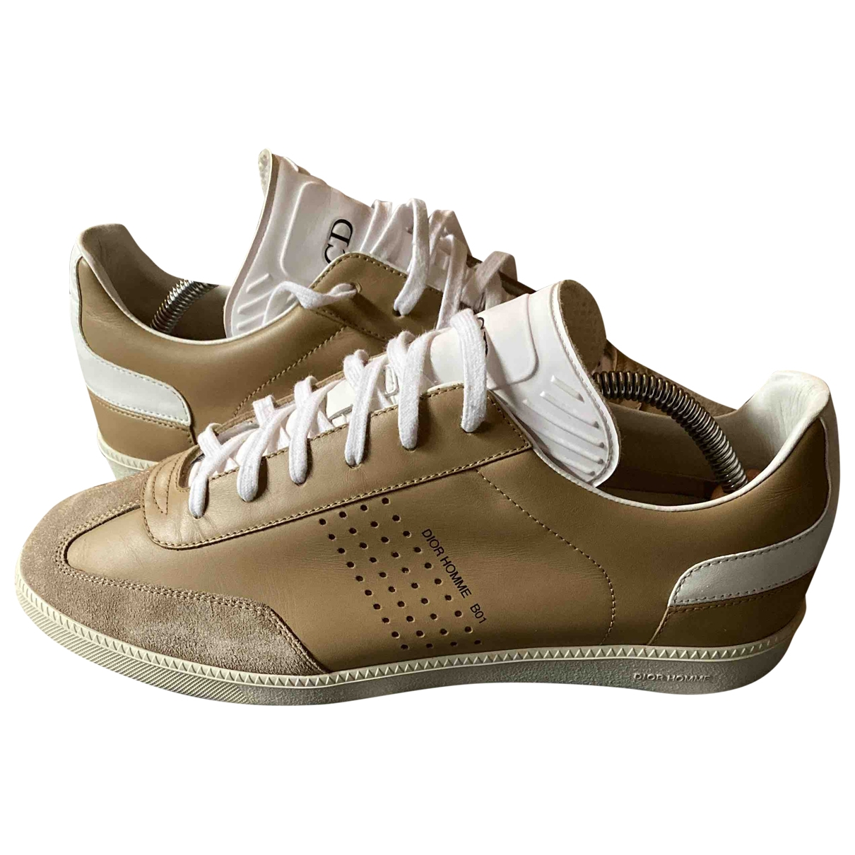 Dior \N Beige Leather Trainers for Men 41 EU