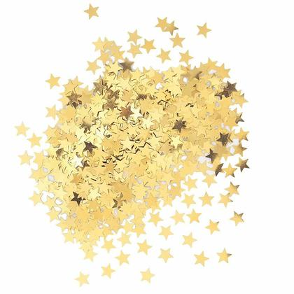 Metallic Foil Gold Star Sequin Table Confetti for Party Decoration, 0.5oz