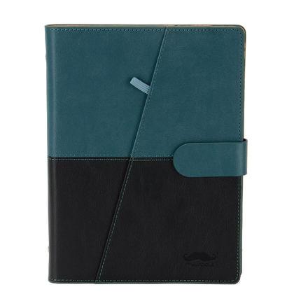 Reusable Smart Notebook, Water-to-Erase Writing Memo Book Cloud Storage Notebook, A5 PU - Moustache® - Green & Black