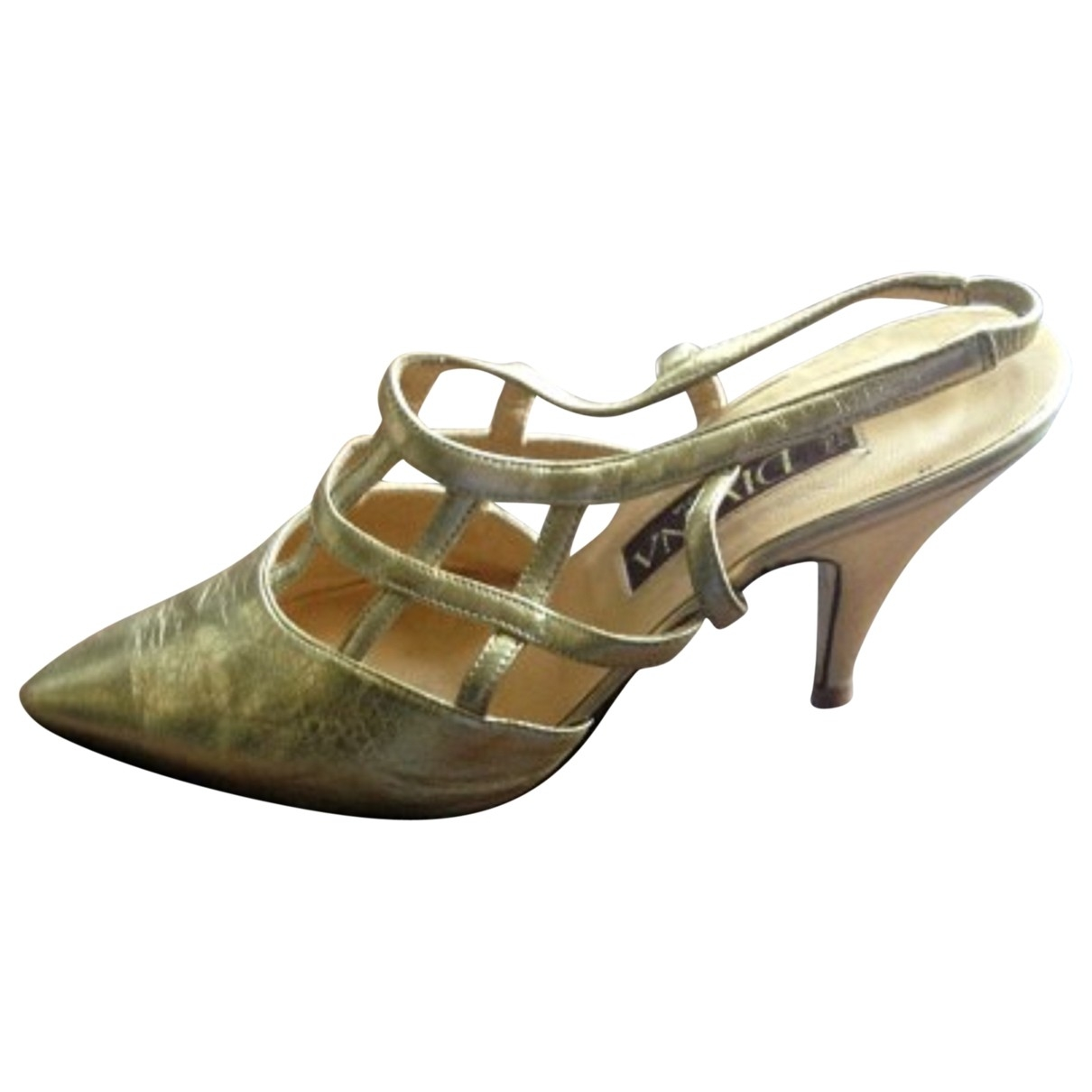 Non Signé / Unsigned \N Gold Leather Heels for Women 39 EU