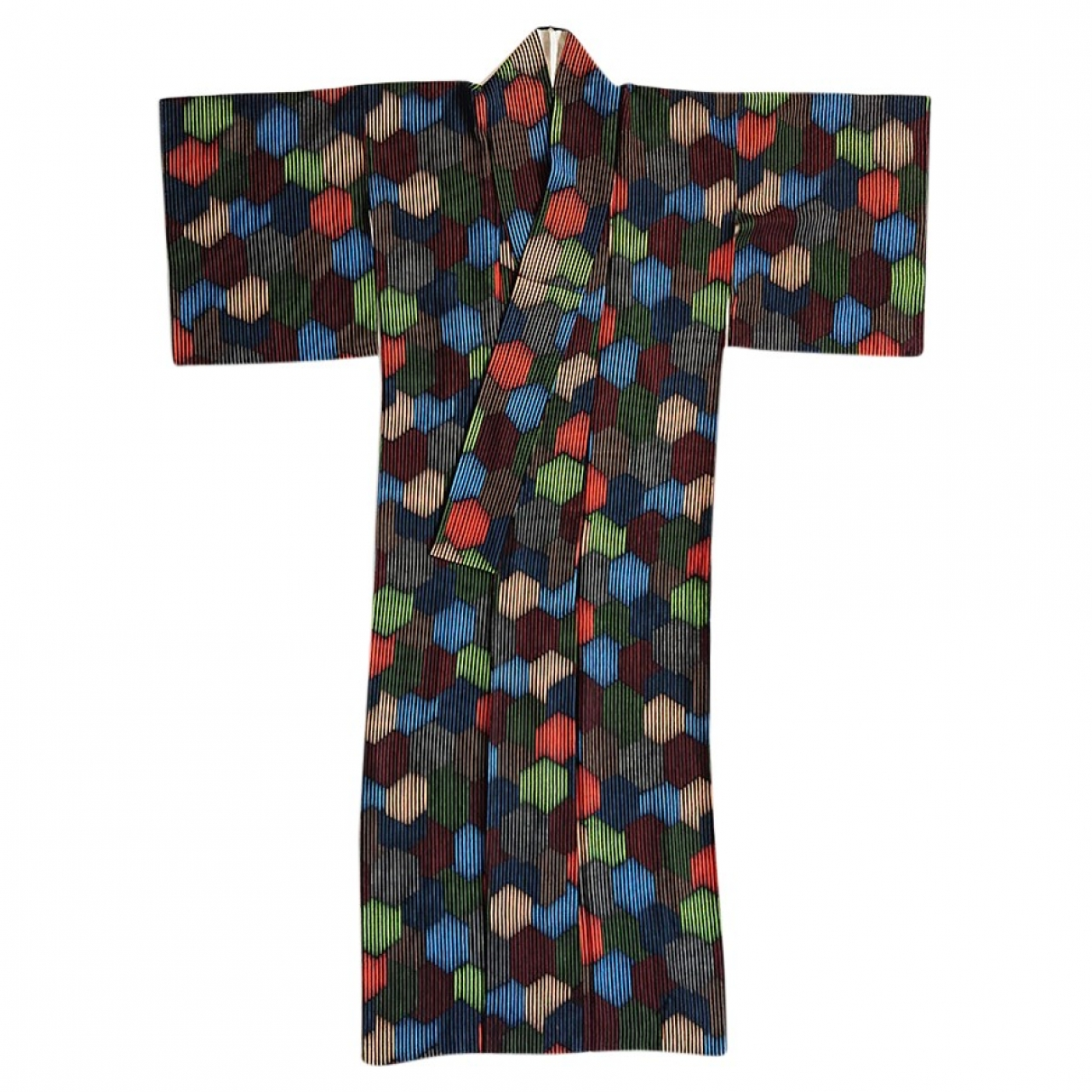 Non Signé / Unsigned \N Multicolour Silk dress for Women One Size International