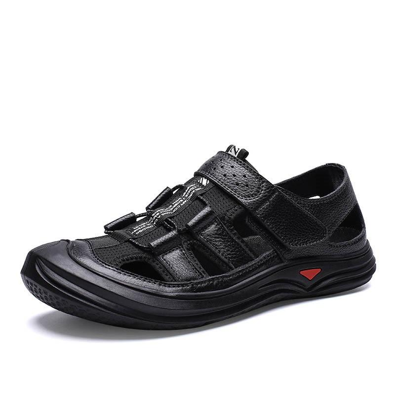 Ericdress Velcro Color Block Round Toe Men's Sandals