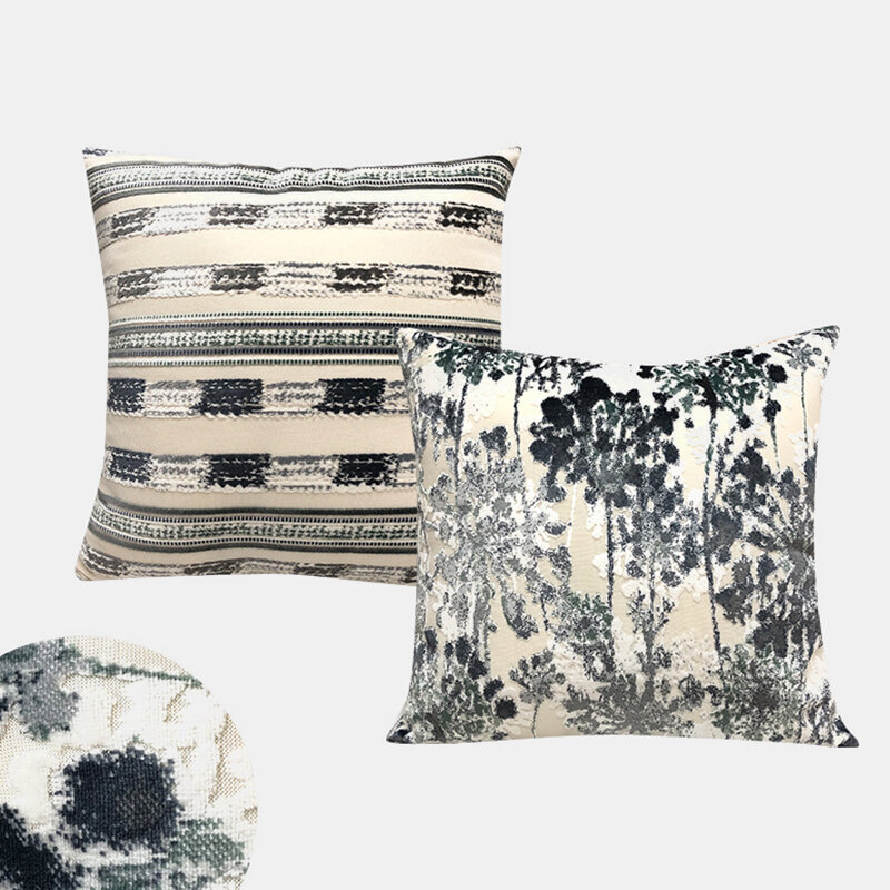 Nordic Pole Jacquard Pillow Room Living Room Bedroom Car Cushion Cover