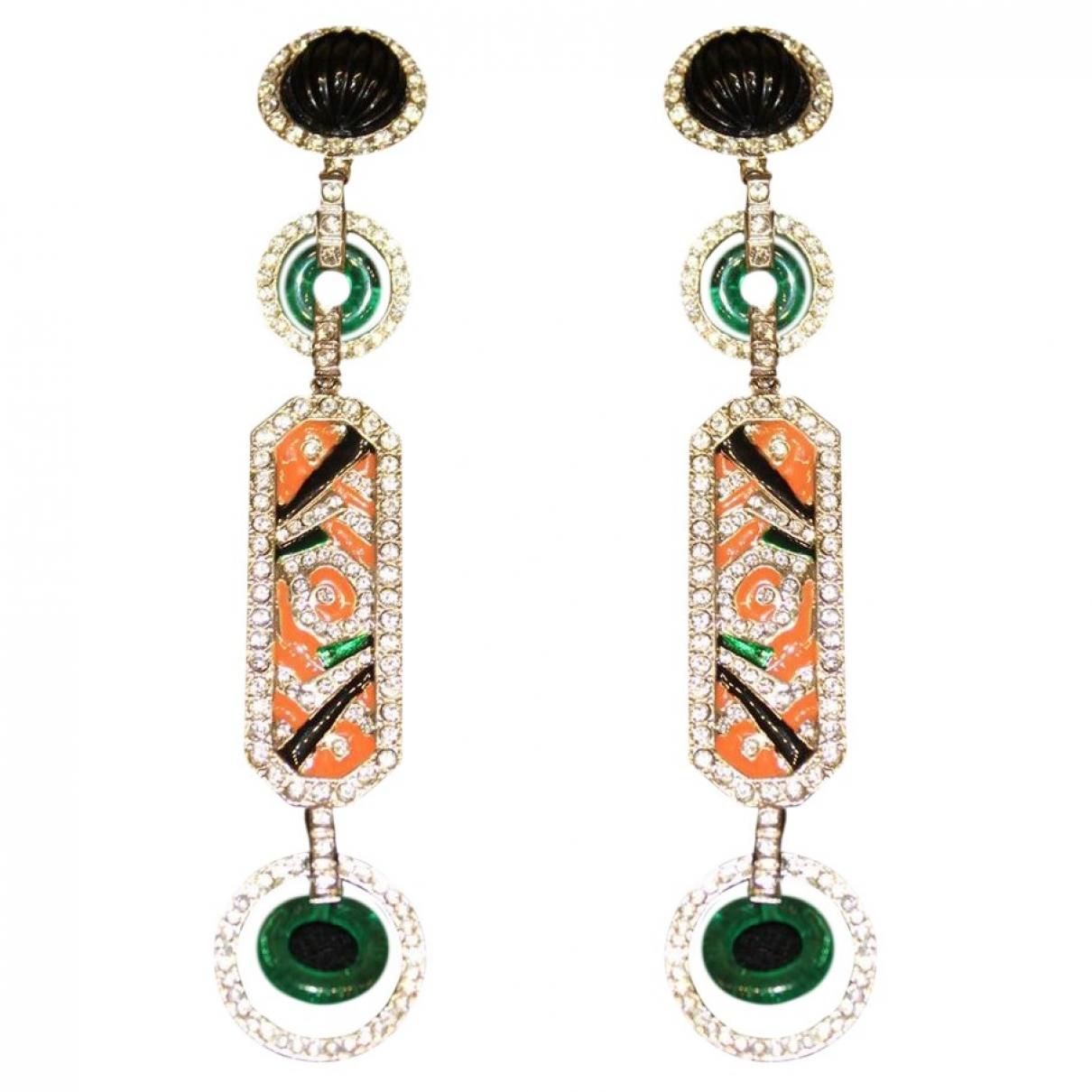 Carlo Zini \N Multicolour Metal Earrings for Women \N