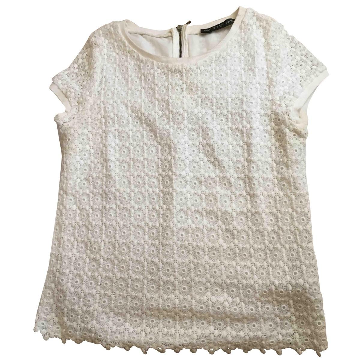 Zara \N White Cotton  top for Women M International