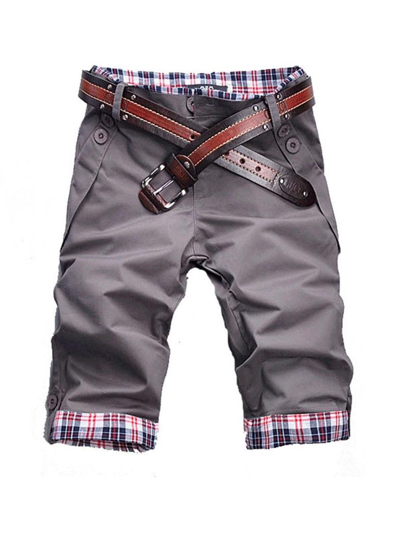 Ericdress Color Block Straight Button Zipper Korean Men's Jeans