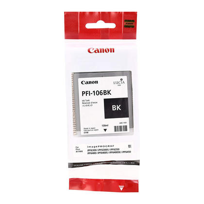 Canon PFI-106BK 6621B001AA Original Black Ink Cartridge