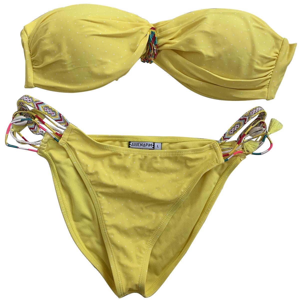 Amenapih \N Yellow Swimwear for Women L International
