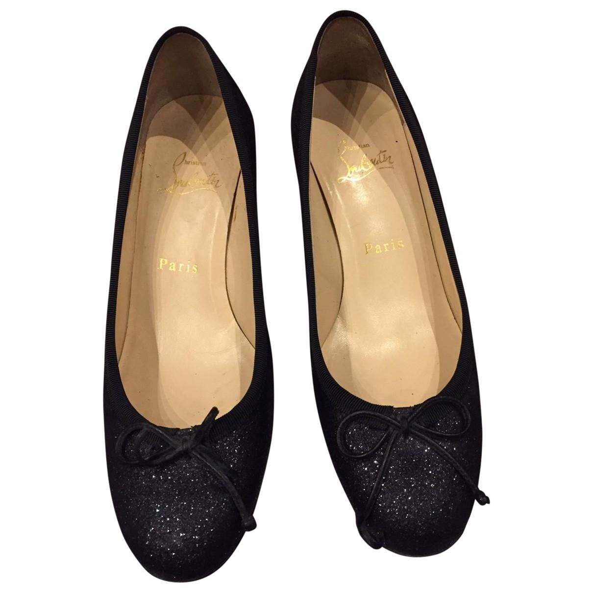 Christian Louboutin \N Black Glitter Heels for Women 37 EU