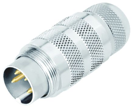 Binder Connector, 3 contacts Cable Mount Miniature Socket, Solder IP67