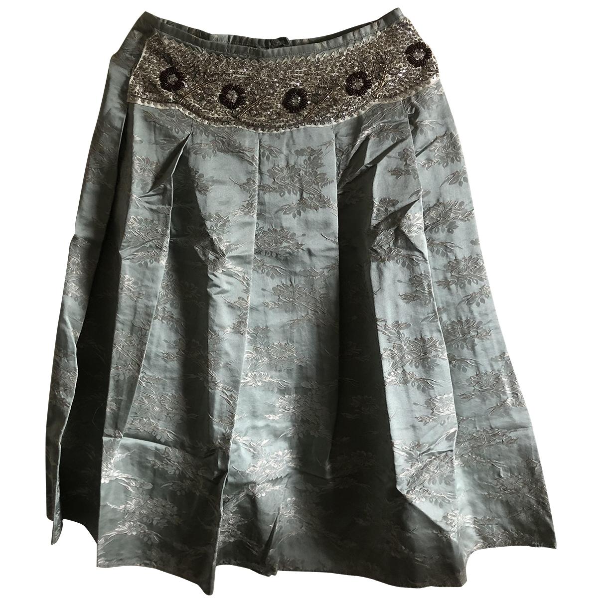 Non Signé / Unsigned \N Green Silk dress for Women 40 FR