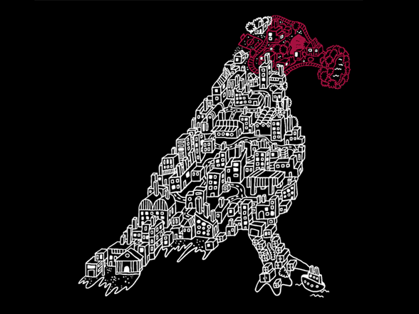 Bird Help City T Shirt