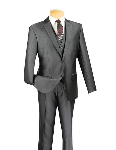 Men's 2 Buttons Single Breasted Notch Lapel 3 Piece  Slim Fit Suit