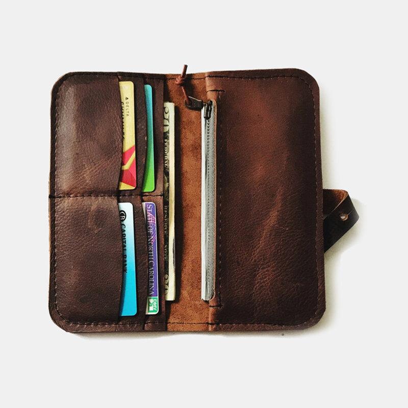 Men PU Leather Retro Multi-card Slots Long Card Holder Wallet Clutch Wallet