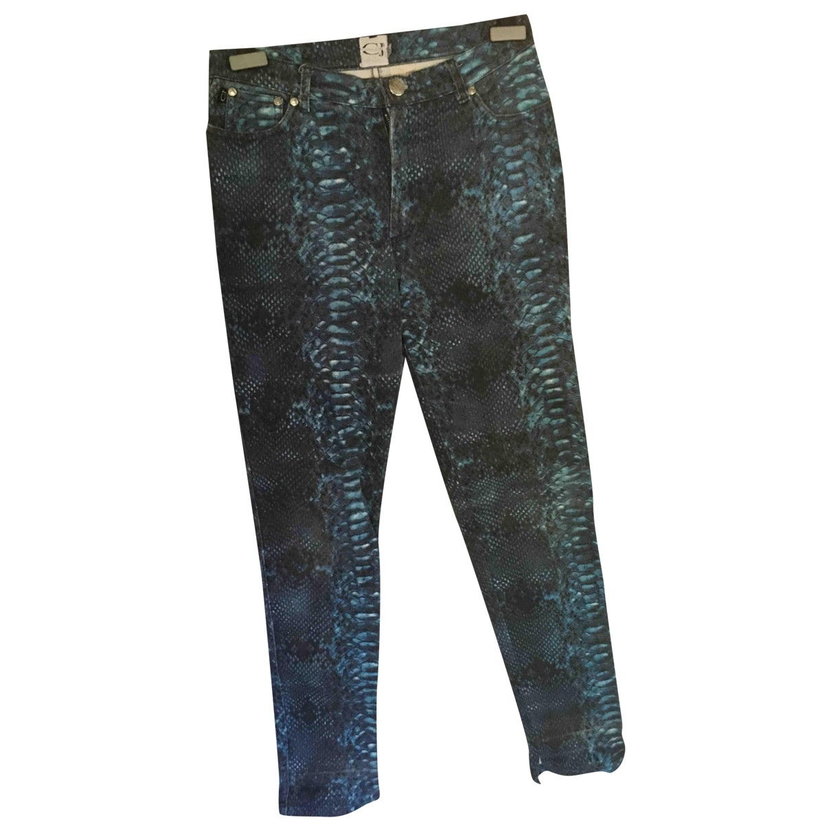 Roberto Cavalli \N Multicolour Denim - Jeans Trousers for Women 32 FR