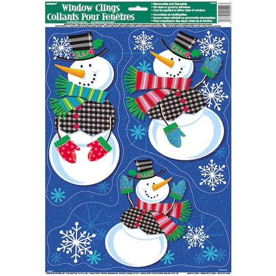 Jolly Snowman Holiday Window Stickers By Michaels®