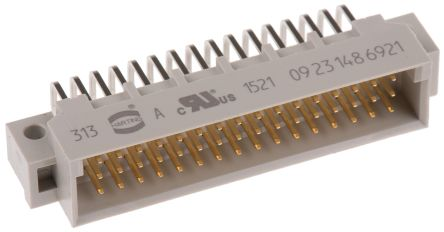 HARTING 48 Way 2.54mm Pitch, Type 2C Class C2, 3 Row, Right Angle DIN 41612 Connector, Plug