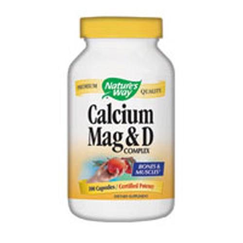 Calcium Magnesium & Vit D 100 Caps by Nature's Way