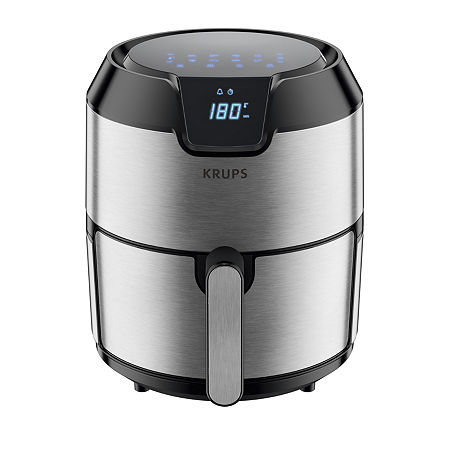 Krups XL Capacity Easy Fry Deluxe Digital Air Fryer 4.2L, One Size , Stainless Steel