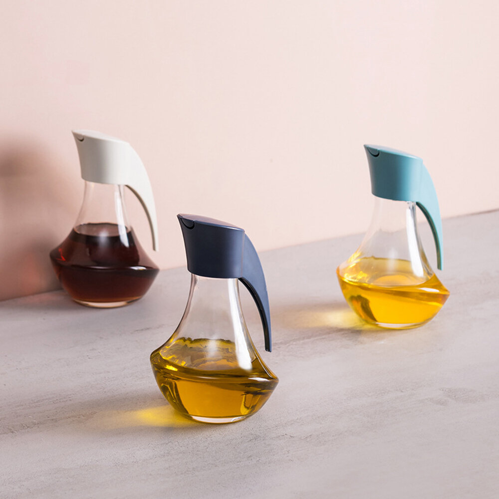 Glass Leakproof Oil Bottle Soy Sauce Vinegar Cans Oiler Condiment Container for Kitchen Tool