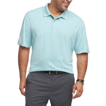 Van Heusen Mens Short Sleeve Polo Shirt Big and Tall, 4x-large Tall , Blue
