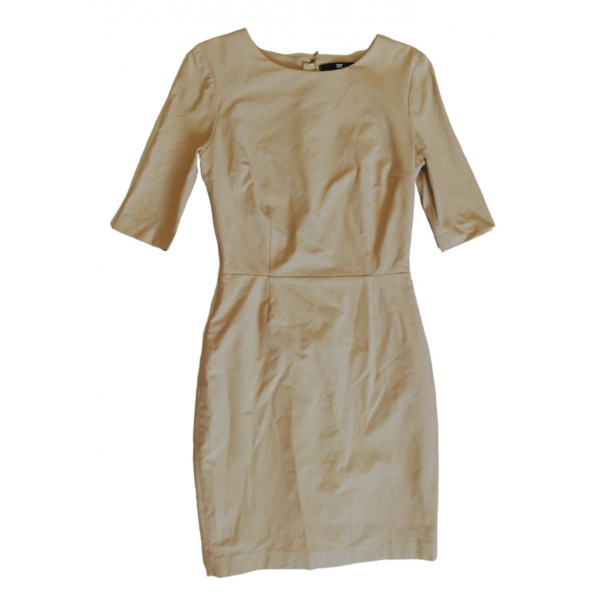 Elisabetta Franchi \N Beige dress for Women 44 IT