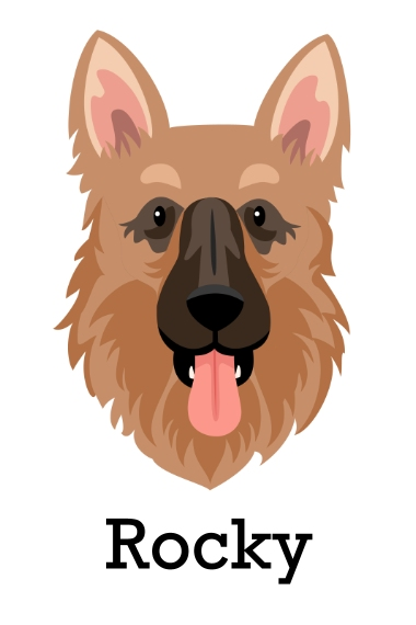 Pet 24x36 Adhesive Poster, Home Décor -German Shepard 3