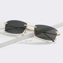 Men Rimless Square Sunglasses