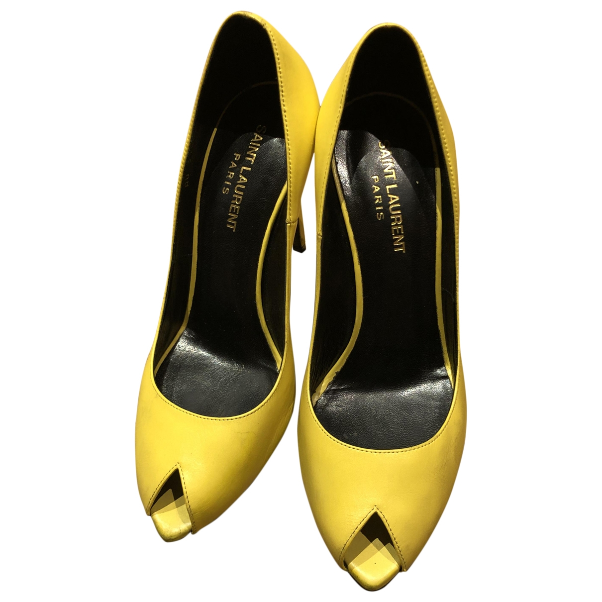 Saint Laurent \N Yellow Leather Heels for Women 38 EU