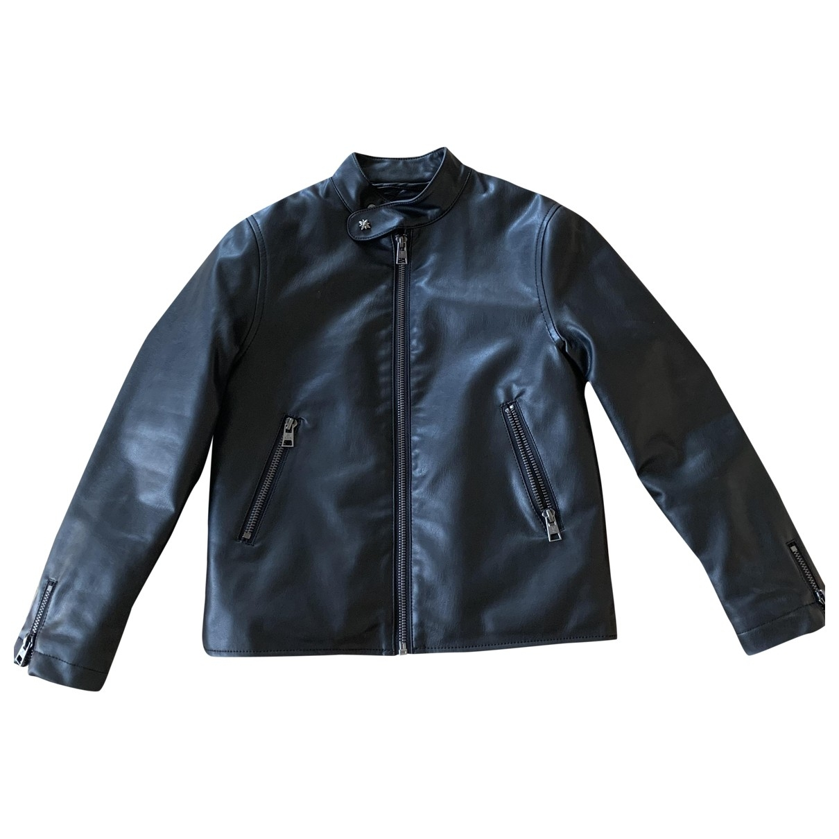 John Richmond \N Black Leather jacket & coat for Kids 8 years - up to 128cm FR