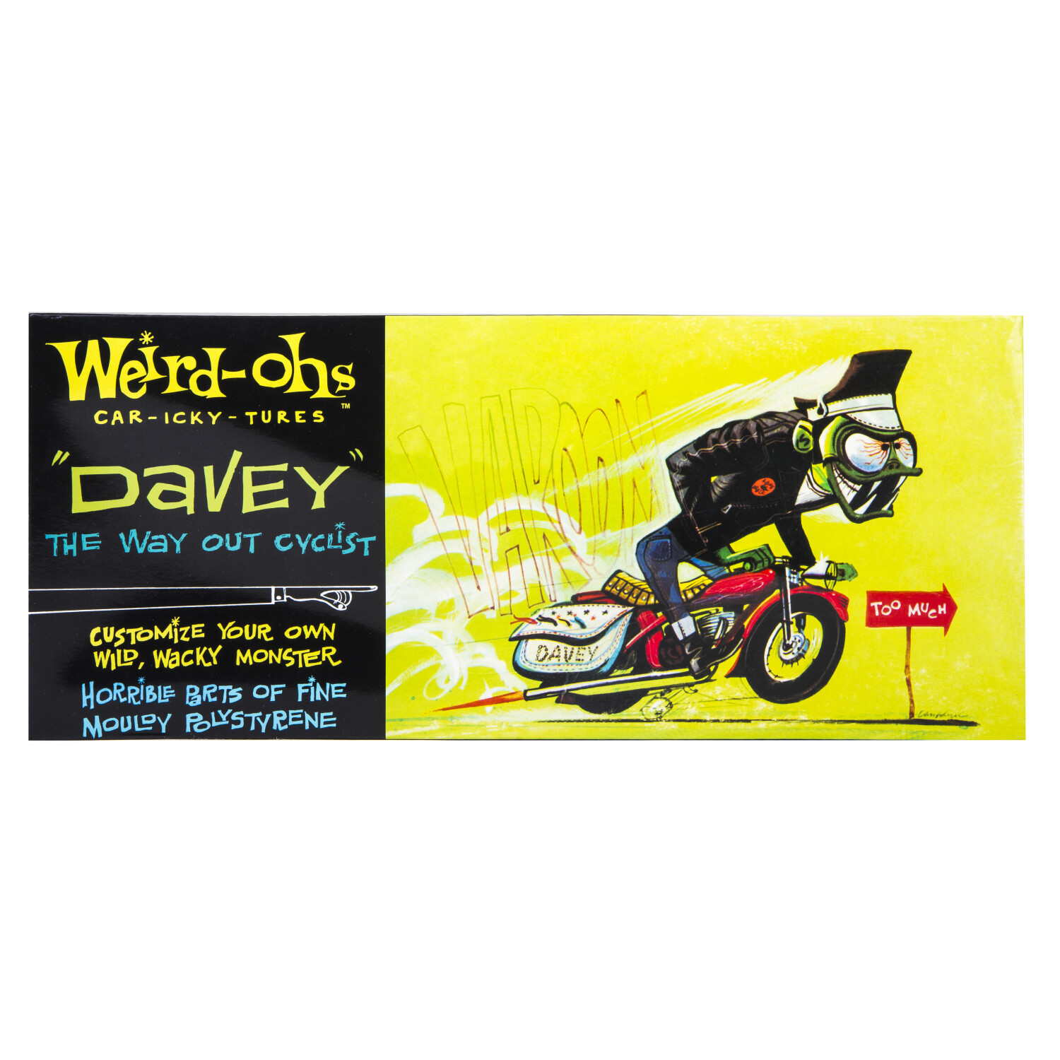 Hawk Model Company Weird-Ohs Davey the Way Out Cyclist Monster Model Kit