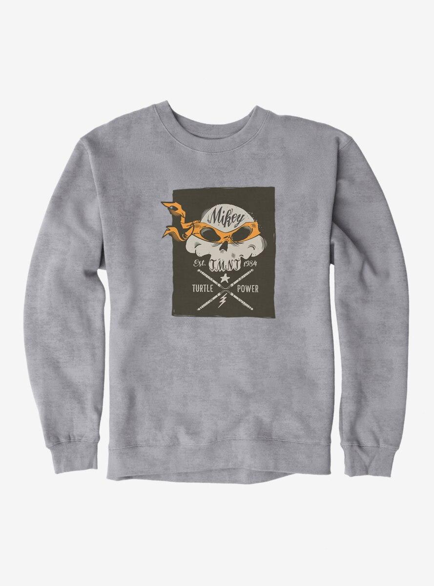 Teenage Mutant Ninja Turtles Michelangelo Bandana Skull And Weapons Sweatshirt