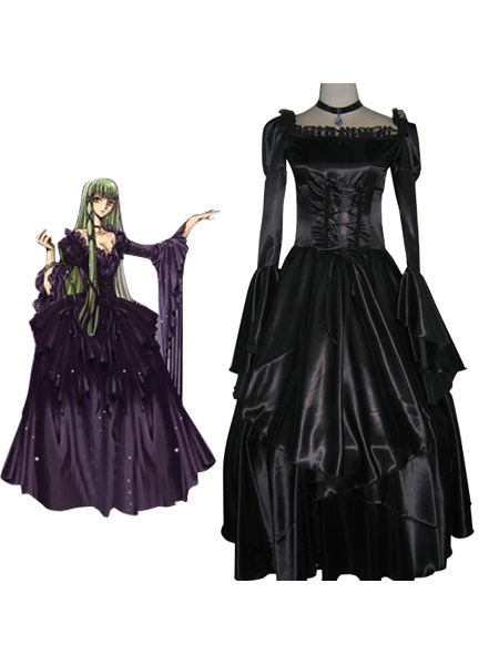 Milanoo Code Geass C.C Halloween cosplay costume  Halloween