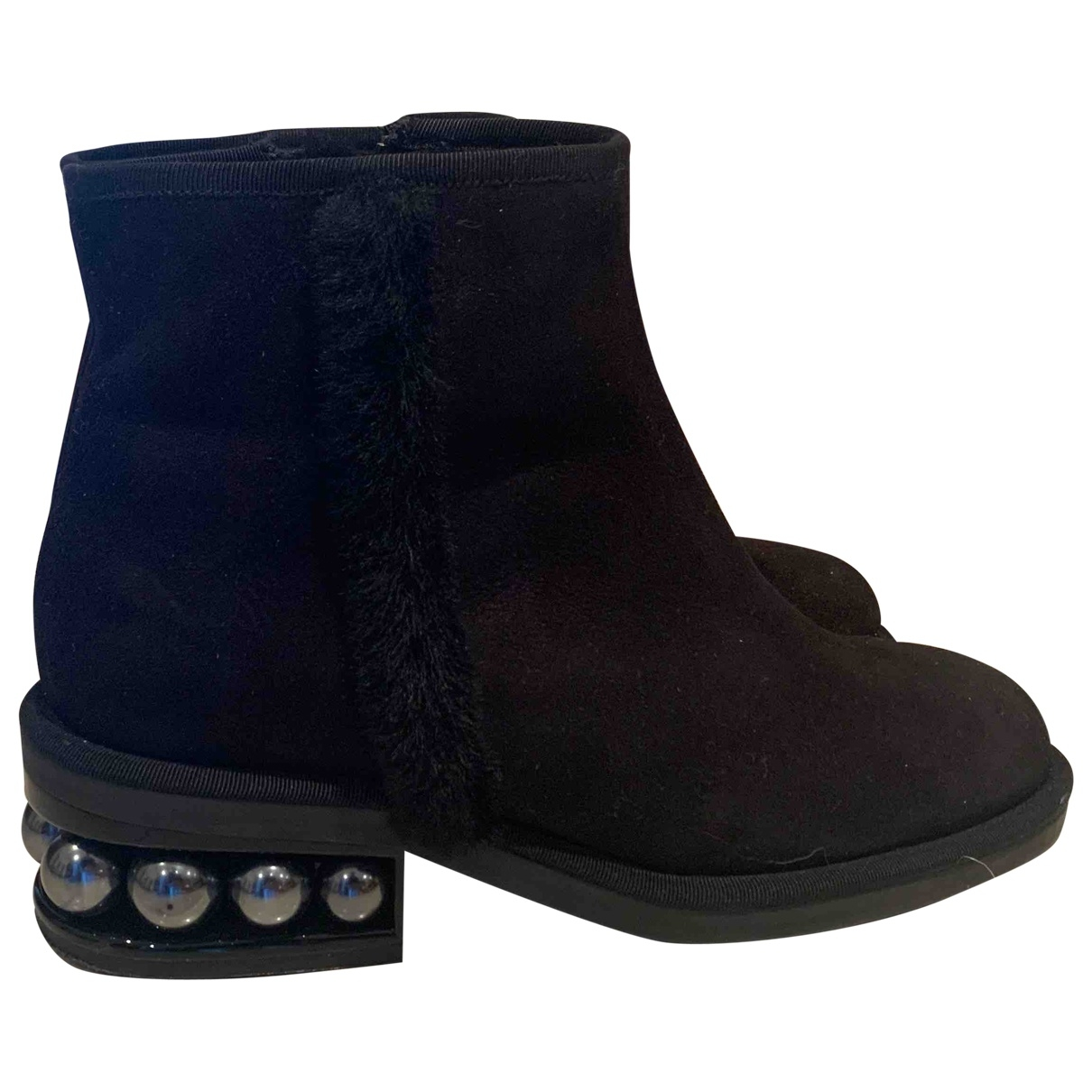 Nicholas Kirkwood \N Black Shearling Ankle boots for Women 35 EU