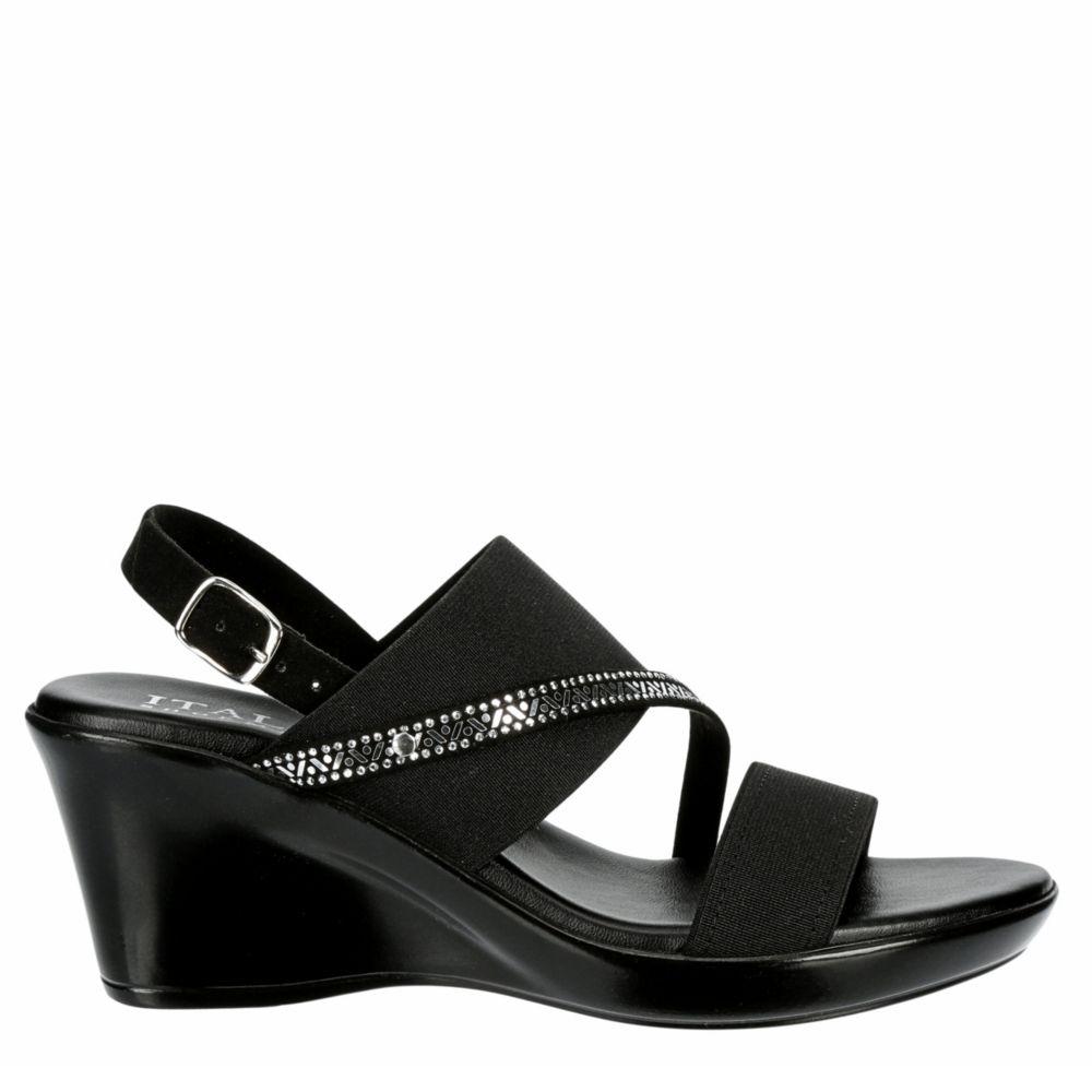 Italian Shoesmakers Womens Charlie Wedge Sandal Heel Sandals