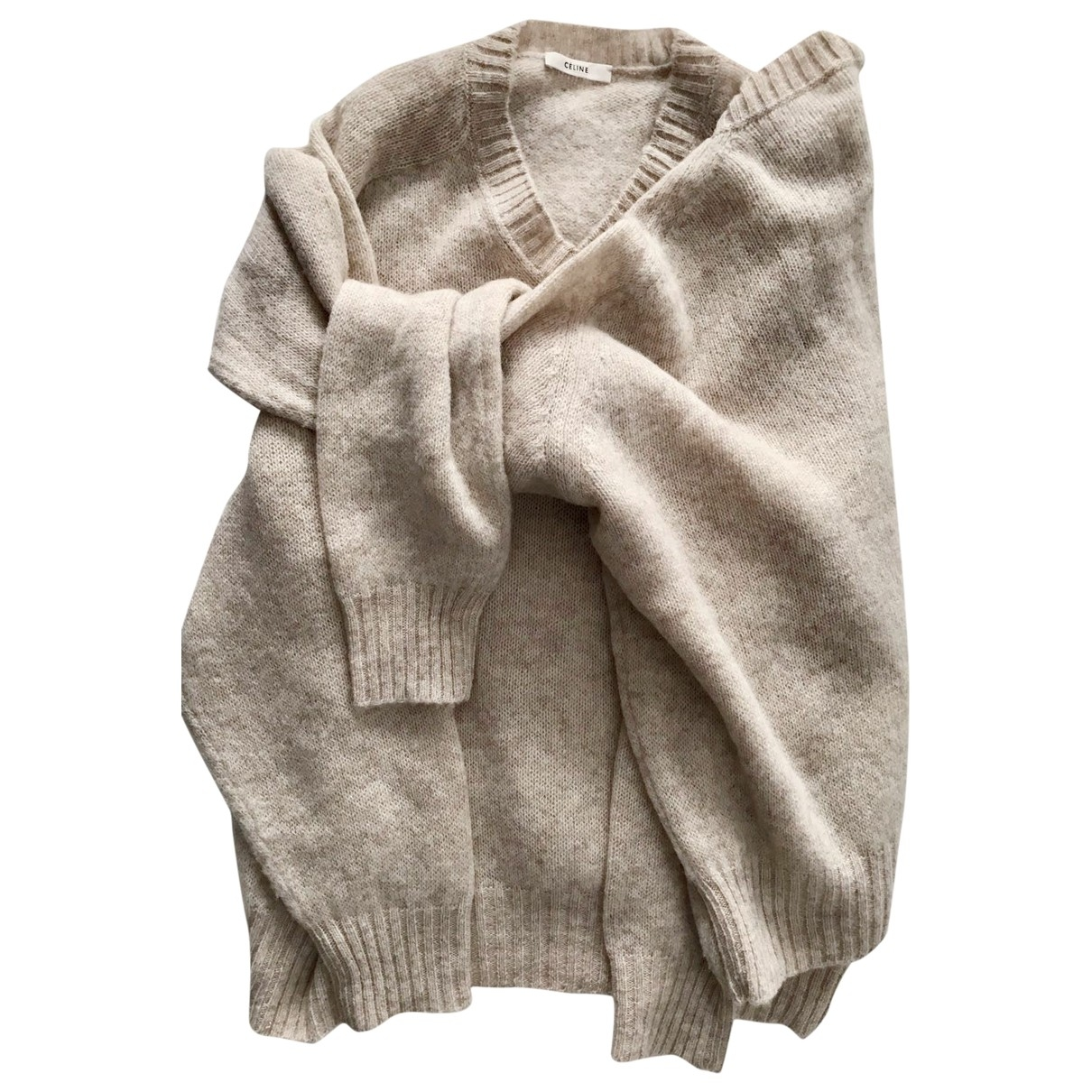 Celine \N Beige Wool Knitwear for Women M International