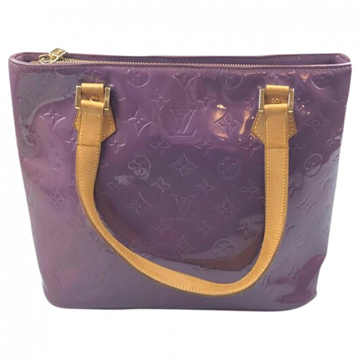 Louis Vuitton Houston Purple Patent leather handbag for Women \N