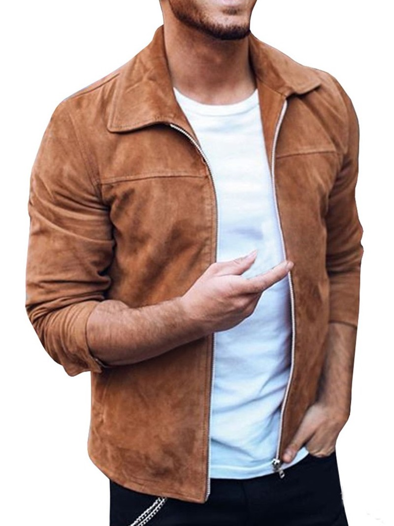 Ericdress Lapel Plain Spring Slim Jacket