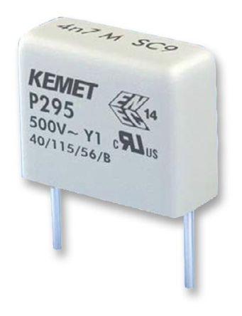 KEMET Paper Capacitor 470pF 500V ac ±20% Tolerance P295 Through Hole +115°C (5)