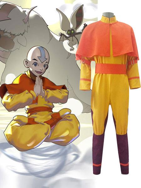 Milanoo Avatar The Last Airbender Aang Cosplay Costume