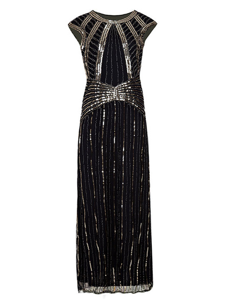 Milanoo Women Flapper Dress Red Sequined 1920s Fashion Style Outfits Great Gatsby Costume Sleeveless Retro 20s Party Dress Halloween