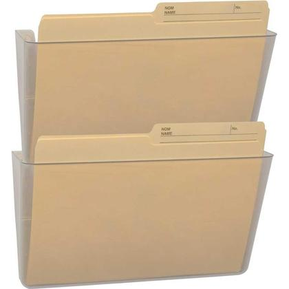Storex® Snap and Stack Wall Pockets Files - Clear, Set of 2 files, Letter Size