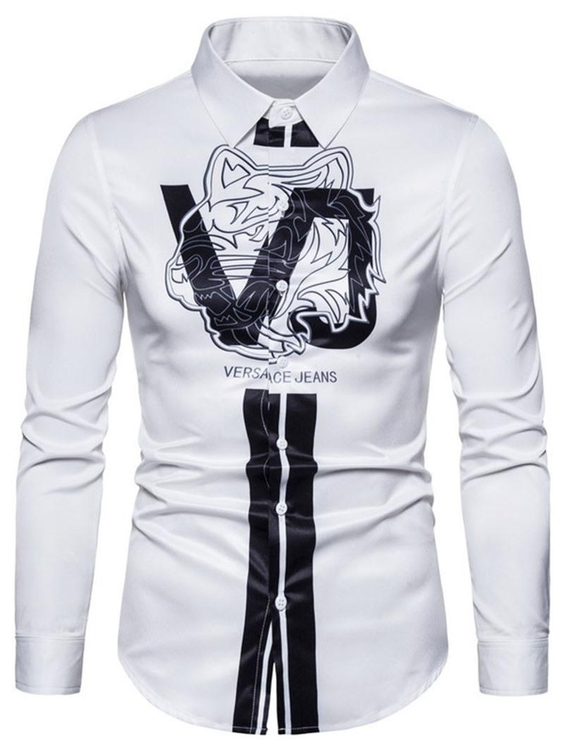 Ericdress Lapel Casual Slim Shirt