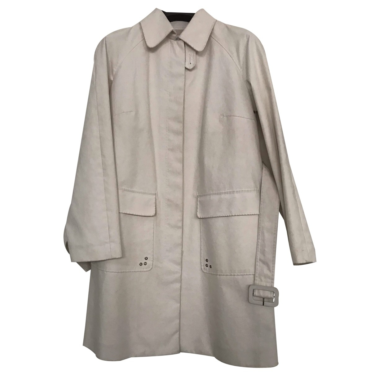 Zara \N White Cotton Trench coat for Women L International