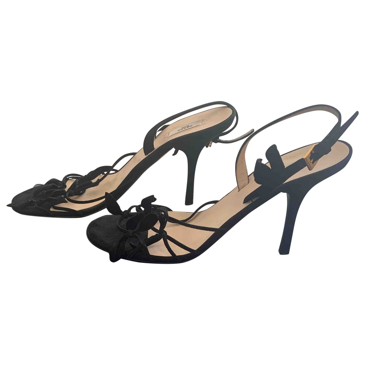 Prada \N Black Velvet Sandals for Women 39 EU