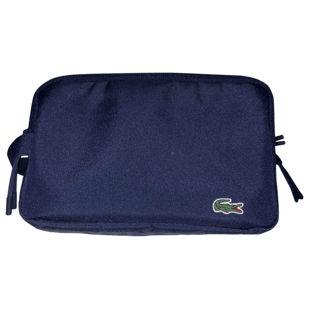 Lacoste \N Navy Cloth Small bag, wallet & cases for Men \N