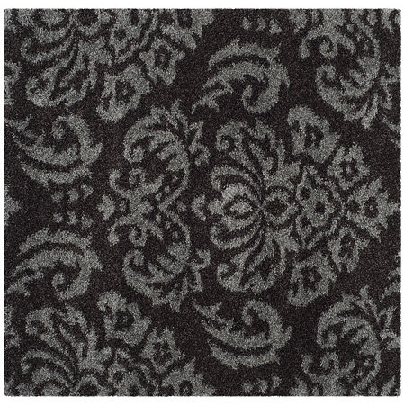 Safavieh Shag Collection Mario Damask Square Area Rug, One Size , Multiple Colors