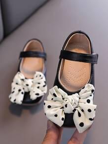Toddler Girls Bow Decor Mary Jane Flats